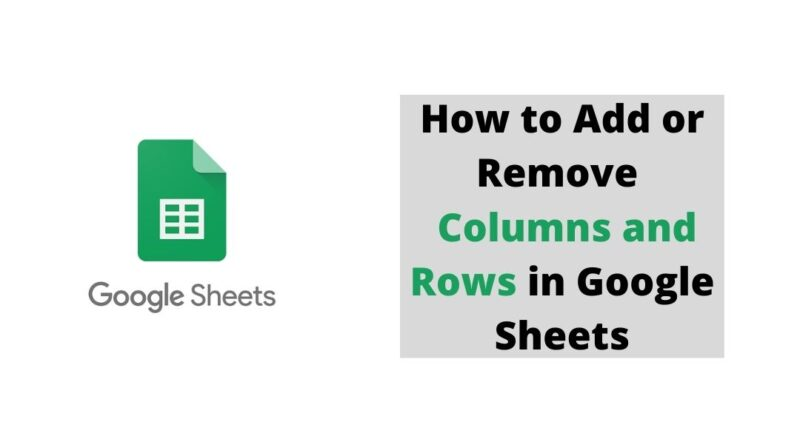 How to Add or Remove Columns and Rows in Google Sheets