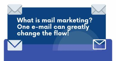 What is mail marketing? One e-mail can greatly change the flow!
