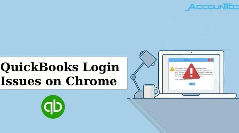 Login problems of QuickBooks online on Chrome