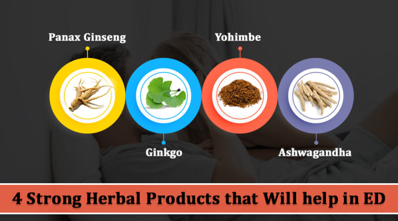 4 Strong Herbal Products that will help in ED According to the research, the disease can attack men at any age, but Erectile Dysfunction is most prevalent when a man is 75 years or older. Many herbs present the potential to be productive in improving men's sexual health. Still, little evidence endures defending the effectiveness of any herbal remedy in the Treatment of ED. People should continuously exercise caution when taking any form of herbal supplementation. Life now is on a fast route for everyone. Students are hurrying to cover curricula within short times. Parents are here, there, and universally striving to make wealth for the family. Corporate leaders want their organizations to become grand successes. There is a short time to take good care of your body. In conclusion, many men have had Erectile Dysfunction. It is the hugest sexual problem that several men across the world are protesting about. Sexual fulfillment is hugely affected, and this can be the cause of many other problems for men. Treatment of Erectile Dysfunction Problem Your doctor can better recognize the underlying cause and lead the appropriate Treatments. Treating an underlying ailment is the primary move to treating male impotency Problems. Often, ED is a sign of some underlying ailment and not a disorder in itself. Hence, Treatment is going to include the examination of what is beginning your ED. It is forever the first step. The causes can differ from medical situations that take away the body's vitality. It could also be an issue of tension, as is the case most of the time. Diagnosis of the origin difficulty will make the treatment approach employed more productive. For the most long spun time, the Treatment for Erectile Dysfunction has always been using herb products. Several pills have been produced in the name of existing natural remedies. Most of these medicines are based on some herb or a different one. In the market, Cenforce 100 mg is Another Beneficial Treatment for Erectile Dys