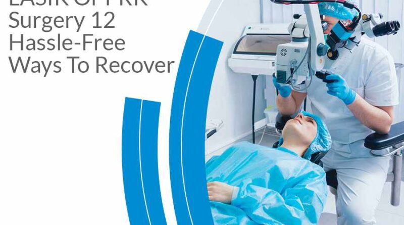 LASIK Or PRK Surgery: 12 Hassle-Free Ways To Recover Let's say you've heard about LASIK surgery and have decided or are in the process of deciding to give it a try. There are still certain things you should know as regards the recovery process after surgery. Besides, you may have a few questions you'd love to ask. This post is just for you - to help teach and show how to have a very comfortable and fuss-free recovery. We want to take the plunge but before that, let's clarify the difference between PRK and LASIK surgery for a better understanding. The difference between PRK and LASIK It is best, to begin with the definition of terms. LASIK is an acronym for laser-assisted in situ keratomileusis surgery, an optical procedure where the surgeon uses a femtosecond laser rather than a scalpel to form a precise flap in the cornea (part of the eye with a dome shape) which is folded back. Another laser is used to change the shape of the middle layer of the cornea to fix any problem with your vision. After doing this, the flap is returned to position, and your cornea begins to recover - typically takes 48 hours. PRK, on the other hand, stands for Photorefractive Keratectomy. Here, there is no need to make a flap on the cornea. What happens is that the laser is applied on the outside layer of the cornea to fix vision impairment called refractive errors. The absence of a corneal flap means your recovery depends on the ability of the eye to self-heal. Based on this, healing takes more time, and you may feel more pain in the initial recovery process than LASIK eye surgery. For ease of healing and to lower pain, the surgeon will fit into your eyes temporary bandage contact lenses that will remain in there for a week. What other difference is there? In a case where your cornea is very thin such that LASIK doesn't work, then PRK will be recommended for you. Another case where PRK works well is if you engage consistently in a high contact sport. Now that these terms have been fully e