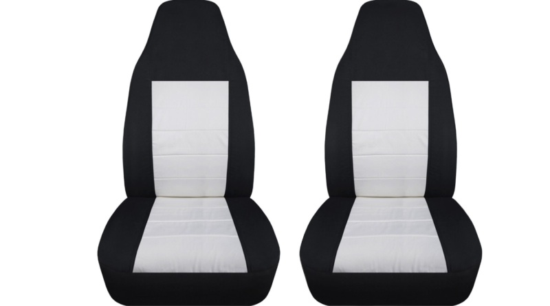 black and white car seat covers